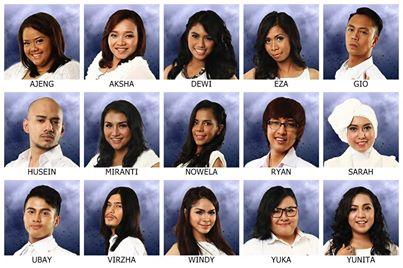 15 Finalis Indonesian Idol 2014.