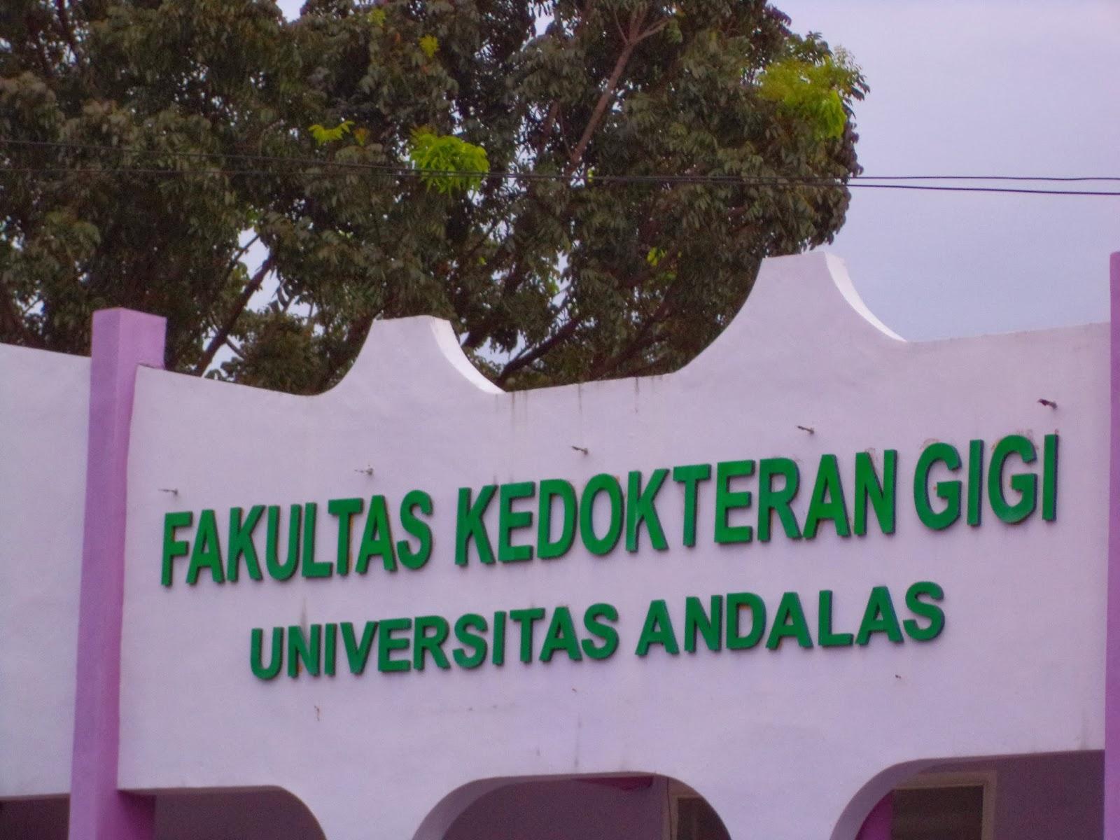 Fakultas Kedokteran Gigi Universitas Andalas.