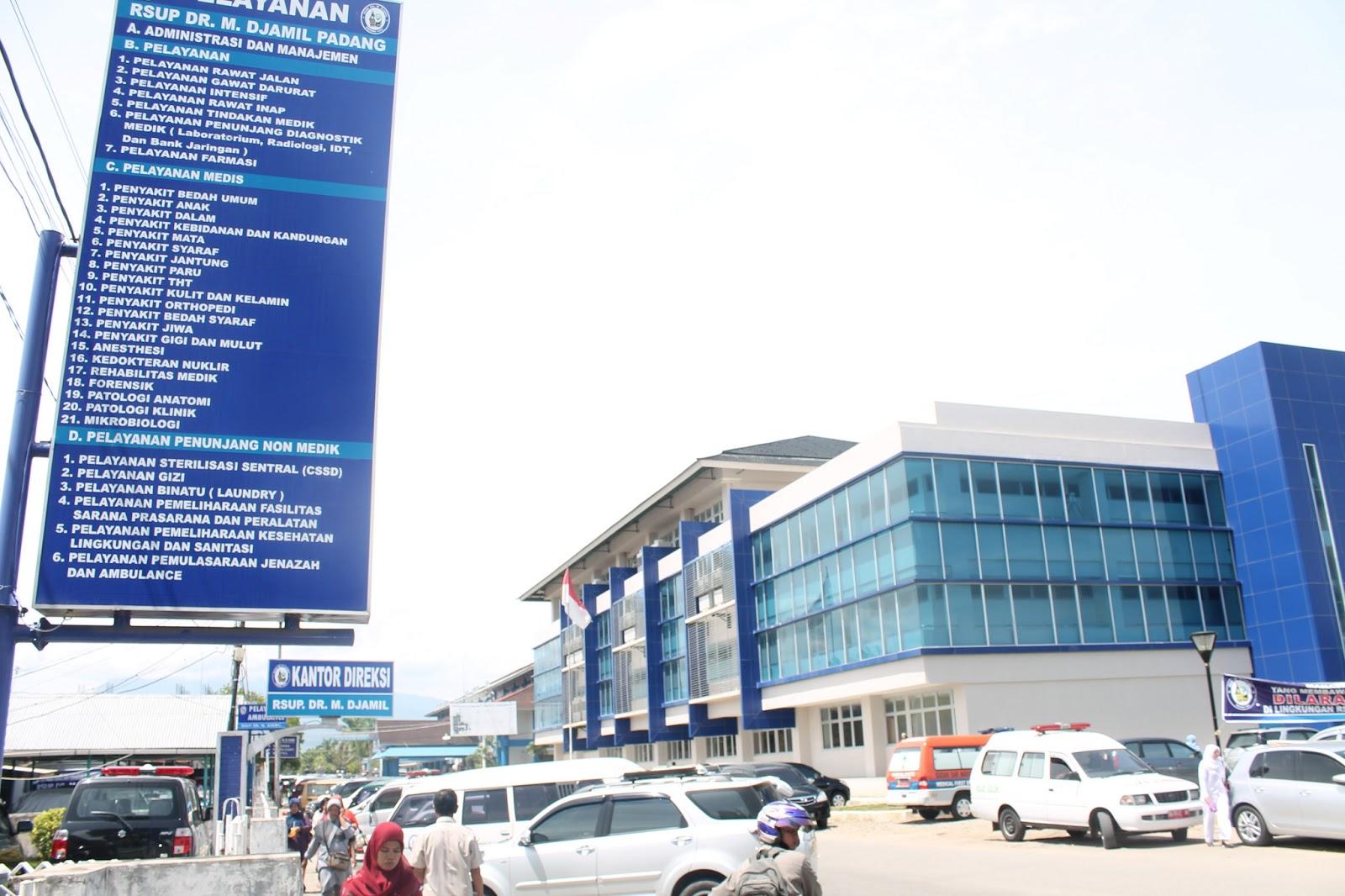 RS M. Djamil Kota Padang. FOTO/JUSTICE SUMBAR