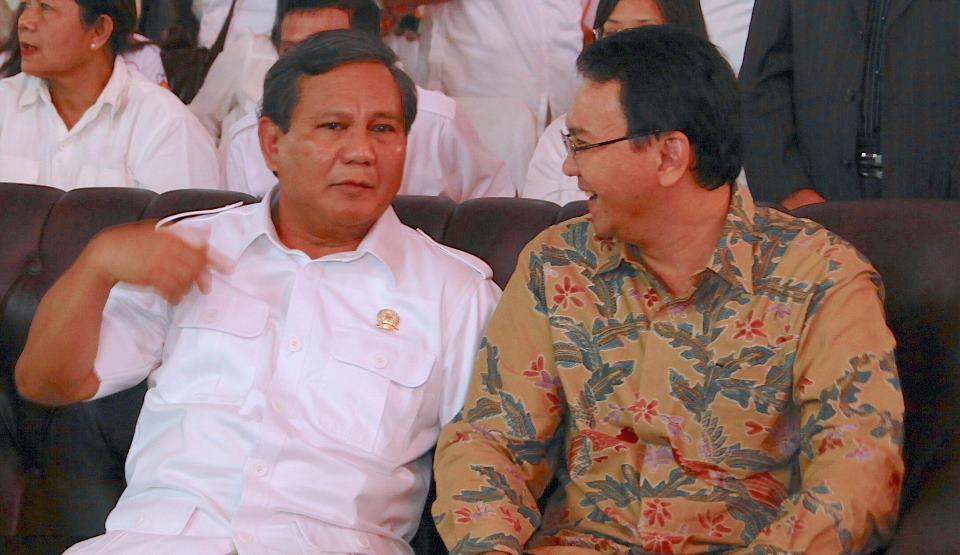 Prabowo Subianto dan Basuki Tjahja Purnama (Ahok)