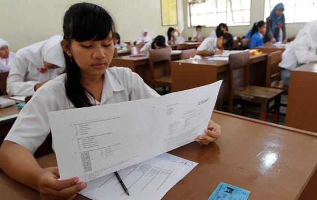 Ilustasi siswa ujian. FOTO BINCANGEDUKASI