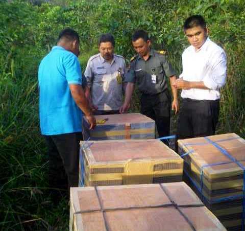 Burung yang diamankan Polisi Hutan Kota Padang.