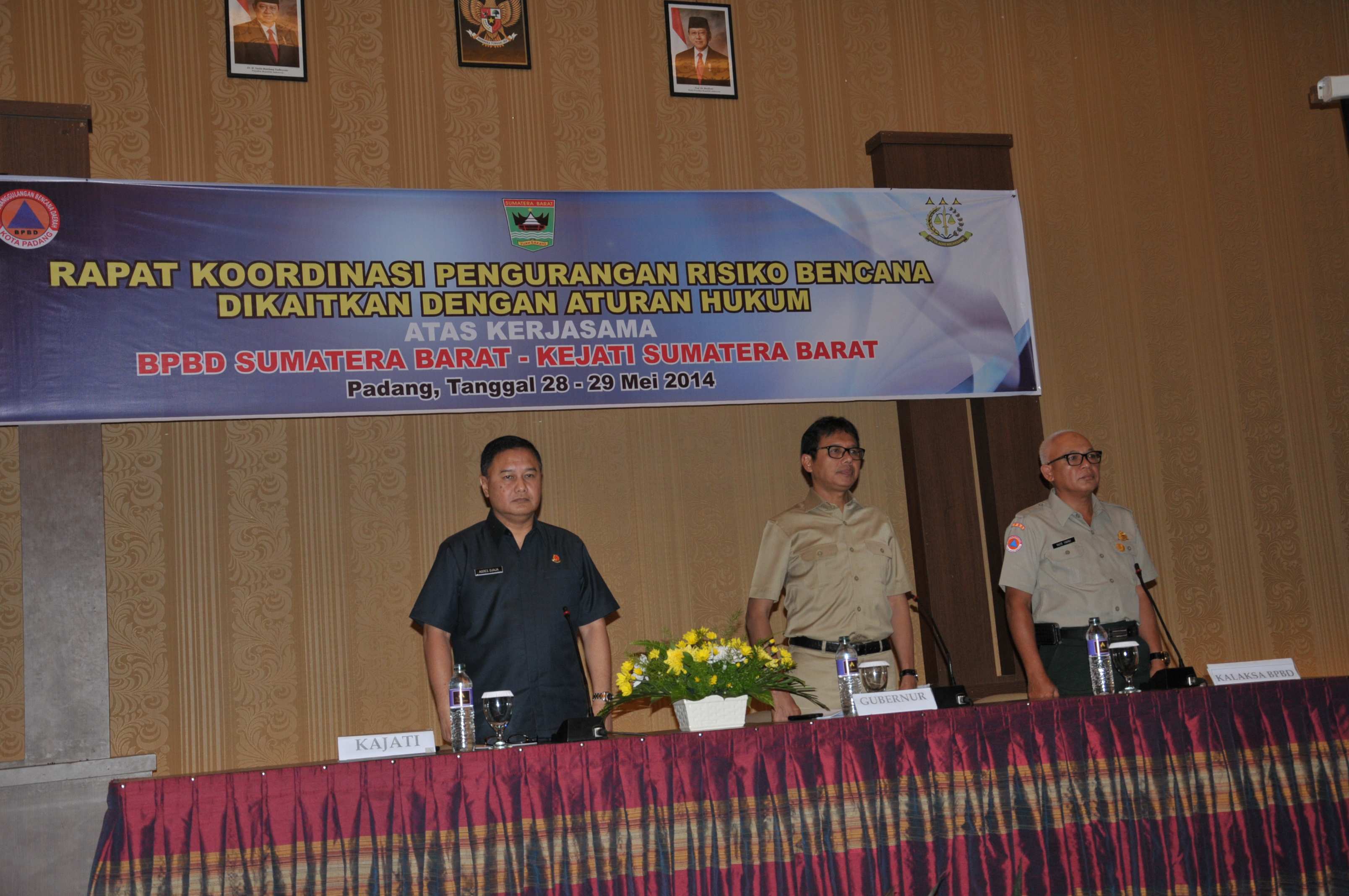 Rapat koordinasi Badan Penanggulangan Bencana Daerah dan Kejaksaan Tinggi Sumatera Barat. FOTO/IST