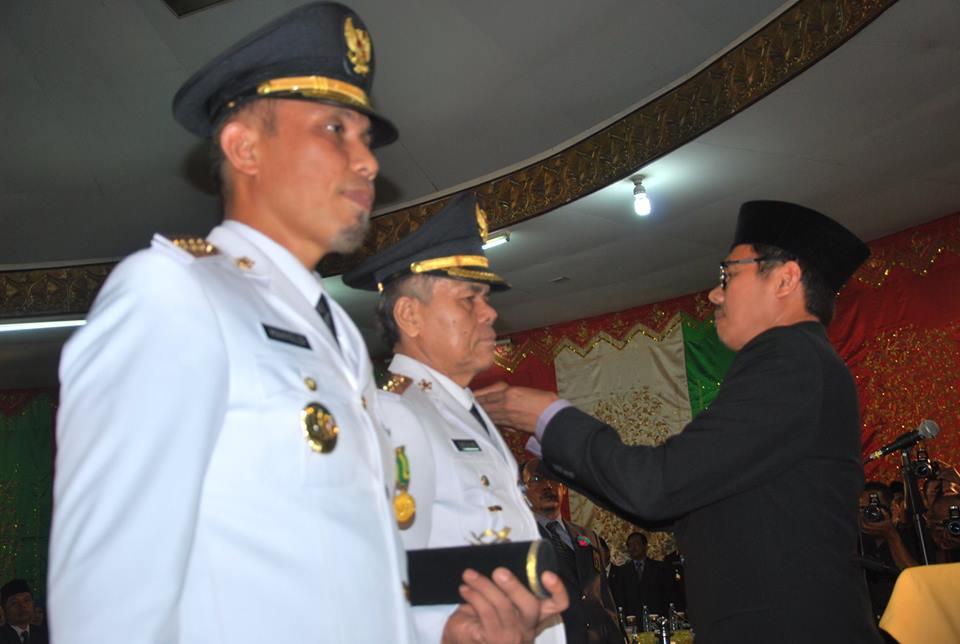 Pelantikan Walikota dan Wakil Walikota Padang. FOTO/IST