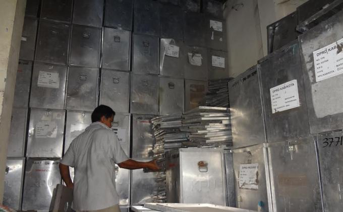 Ilustrasi kotak suara bahan Aluminium. Foto : TribunNews