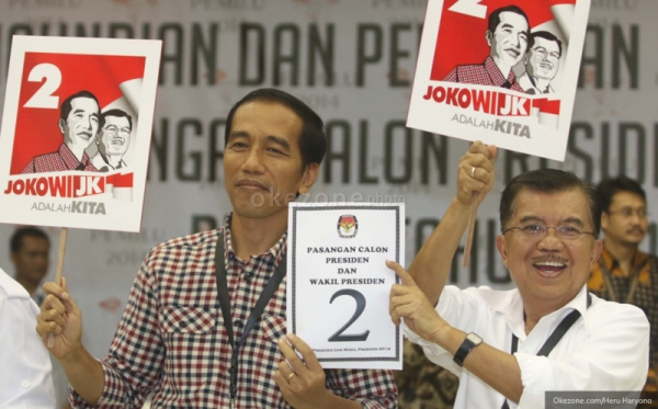 Joko Widodo dan Jusuf Kalla. FOTO/OKEZONE