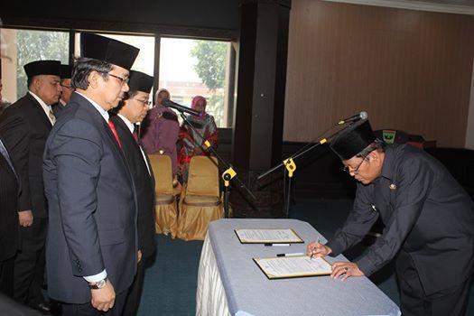 Pelantikan Enam Pejabat Eselon II oleh Sekda Pemprov Sumatera Barat, Ali Asmar. Foto : Istimewa