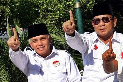 Prabowo Subianto dan Hatta Rajasa. Foto : Bisnis