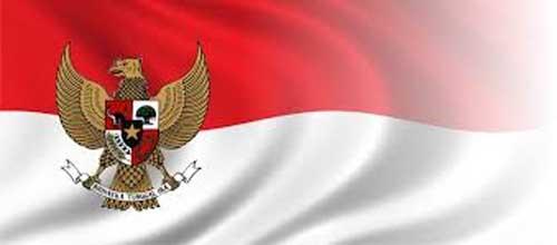 Bendera Merah Putih.