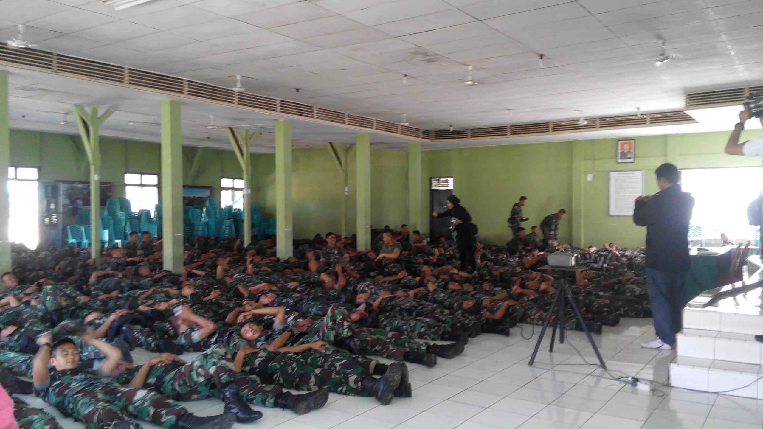 Penerapan Hipno Therapy pada Prajurit Batalyon 133 Yudha Sakti. Foto : Gesya Rikhaflina.