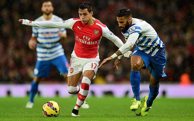 Arsenal vs QPR. Foto : www.telegraph.co.uk