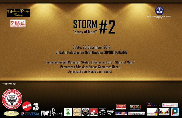 Malam Puisi Padang gelar Storm #2. Foto : Twitter