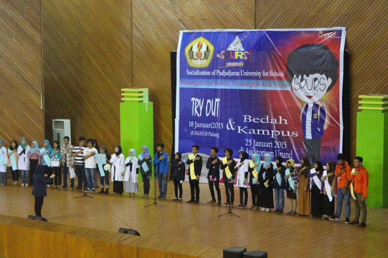 Kegiatan SPURS 2015 berlangsung meriah bertempat di Auditorium Universitas Andalas, Padang. Foto : Salim